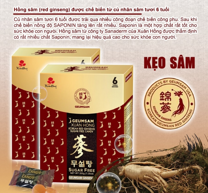 Korean Red Ginseng Candy - sugar free